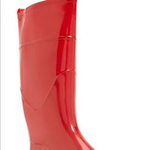 Shiny Red Rain Boots (Brand New)